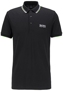 Hugo Boss Regular Fit heren stretch polo, Paddy Pro, zwart