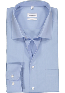 Seidensticker Regular Fit overhemd, licht blauw (Fil a fil)