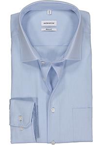 Seidensticker Regular Fit overhemd, lichtblauw fijn structuur