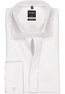 OLYMP Modern Fit smoking overhemd, mouwlengte 7, wit (Kent kraag)