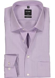 OLYMP Luxor modern fit overhemd, licht paars