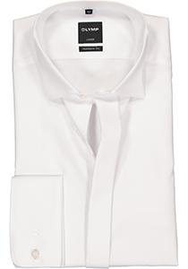 OLYMP Luxor Modern Fit overhemd, Smoking overhemd, wit, gladde stof (wing kraag)