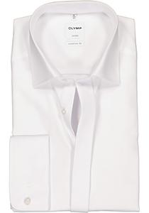 OLYMP Luxor Comfort Fit overhemd, Smoking overhemd, wit, gladde stof (Kent kraag)