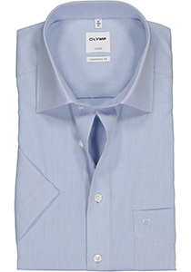 OLYMP Luxor comfort fit overhemd, korte mouw, AirCon lichtblauw