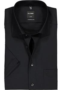 OLYMP Luxor modern fit overhemd, korte mouw, zwart