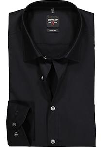 OLYMP Level 5 body fit overhemd, zwart
