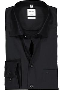 OLYMP Luxor comfort fit overhemd, zwart