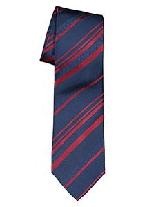 ETERNA stropdas, blauw met rood gestreept