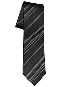 ETERNA stropdas, zwart met grijs gestreept