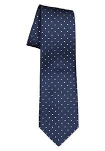ETERNA stropdas, marine blauw met rood gestipt