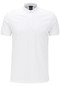 Hugo Boss Regular Fit heren polo, Piro, wit