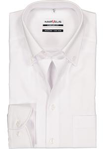 MARVELIS comfort fit overhemd, wit met button-down kraag