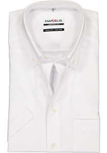 MARVELIS Comfort Fit, overhemd korte mouw, wit (button-down)