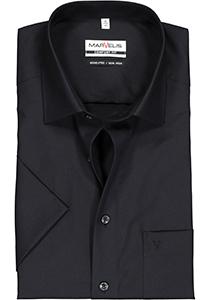 MARVELIS Comfort Fit overhemd, korte mouw, zwart