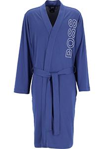 HUGO BOSS heren badjas, katoen tricot, blauw