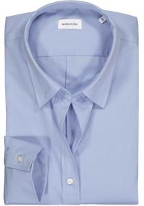 Seidensticker dames blouse Slim Fit, lichtblauw