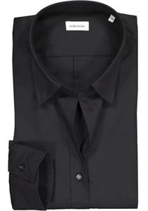 Seidensticker dames blouse Slim Fit, zwart