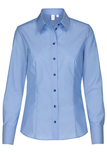 Seidensticker dames blouse regular fit, blauw
