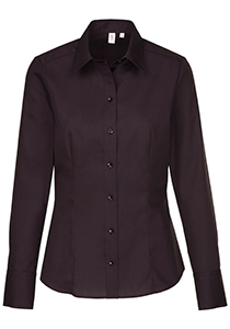 Seidensticker dames blouse regular fit, zwart