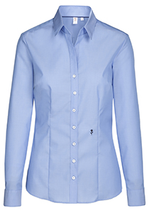 Seidensticker dames blouse slim fit, blauw