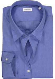 Seidensticker dames blouse Slim Fit, blauw
