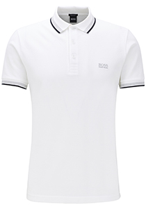 Hugo Boss Regular Fit heren polo, Paddy, wit