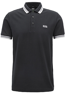 Hugo Boss Regular Fit heren polo, Paddy, zwart