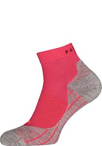 RU4 Short Dames Hardloopsokken, roze-mix