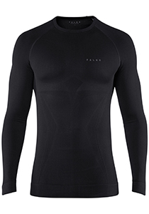 FALKE Maximum Warm thermo T-shirt, lange mouw, zwart