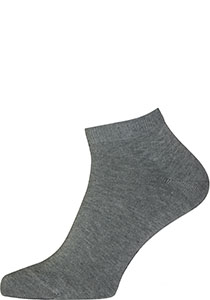 FALKE Happy heren enkelsokken (2-pack), licht grijs (light grey melange)