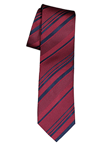 ETERNA stropdas, bordeaux rood gestreept