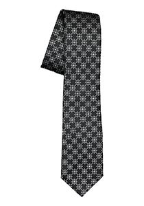 ETERNA smalle stropdas, zwart met grijs dessin