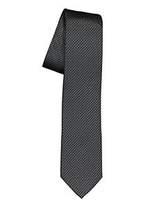 ETERNA smalle stropdas, grijs met zwart structuur