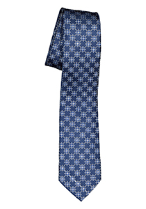 ETERNA smalle stropdas, blauw dessin