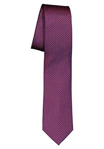 ETERNA smalle stropdas, bordeaux rood met blauw structuur