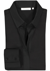 Eterna dames blouse Modern Classic jersey stretch, zwart