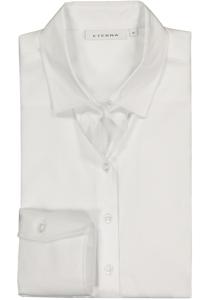 Eterna dames blouse Modern Classic stretch satijnbinding, wit
