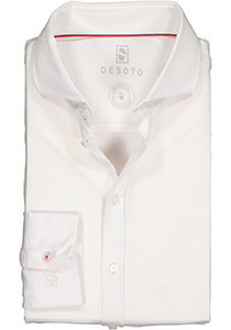 DESOTO slim fit overhemd, stretch tricot, wit