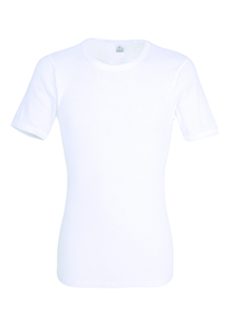 Gotzburg heren T-shirt Regular Fit (1-pack) doppelripp O-hals, wit