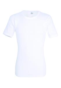 Gotzburg heren T-shirt regular fit (1-pack), doppelripp heren shirt O-hals, wit