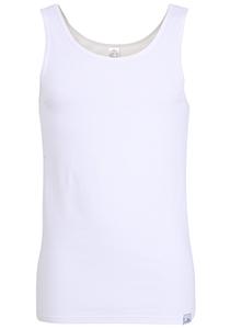 Gotzburg heren singlet slim fit 95/5 (1-pack), heren onderhemd stretch katoen, wit
