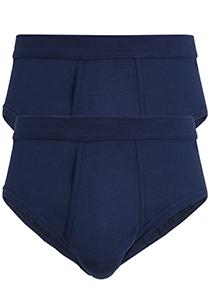 Gotzburg heren slips (2-pack), donkerblauw (Feinripp)