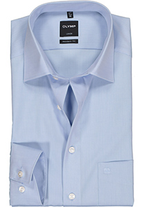 OLYMP Luxor modern fit overhemd, mouwlengte 7, lichtblauw
