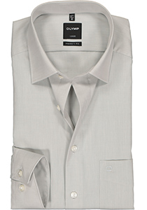 OLYMP Luxor Modern Fit overhemd, licht grijs