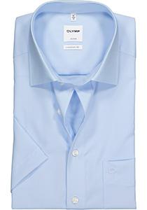 OLYMP Luxor comfort fit overhemd, korte mouw, lichtblauw