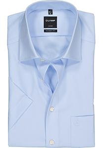 OLYMP Luxor modern fit overhemd, korte mouw, lichtblauw