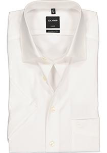 OLYMP Luxor modern fit overhemd, korte mouw, beige - creme