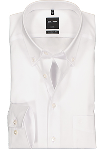 OLYMP Luxor modern fit overhemd, wit met button-down kraag