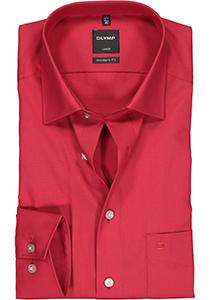 OLYMP Luxor modern fit overhemd, rood