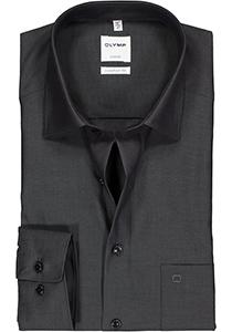 OLYMP Luxor Comfort Fit overhemd, antraciet grijs